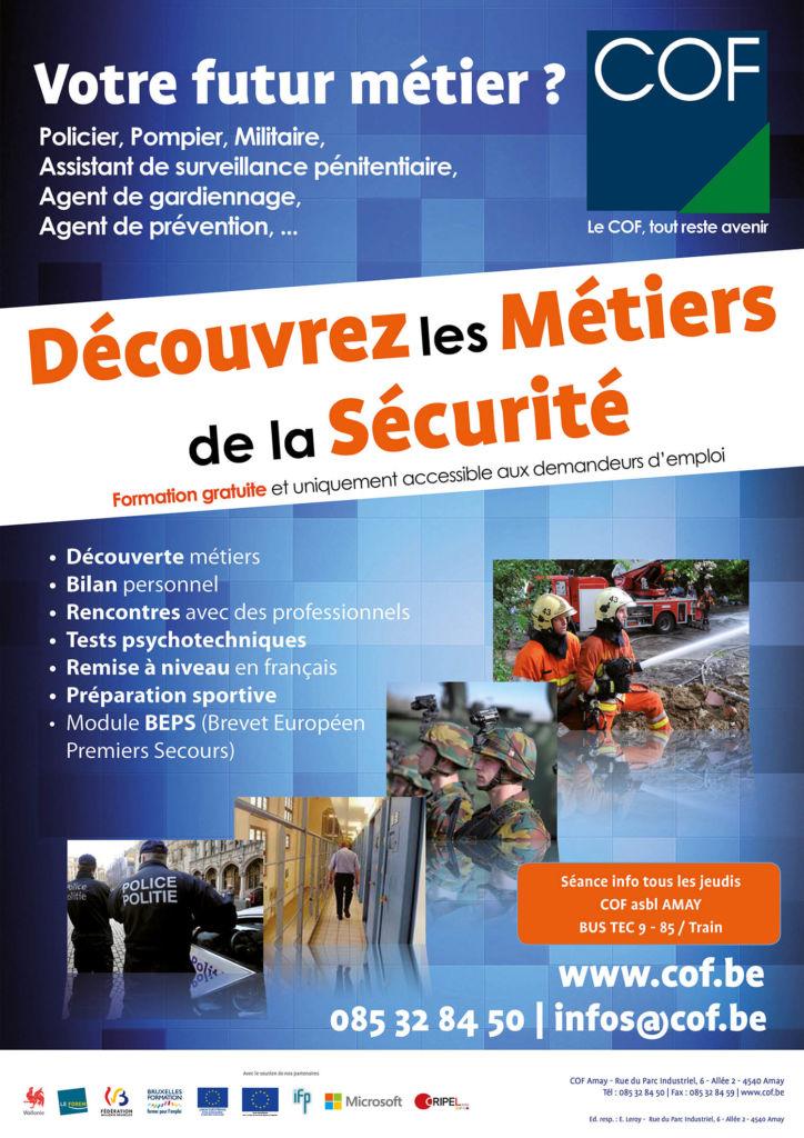 Decouvrez Les Metiers De La Securite Cof Centre De Formation Et D